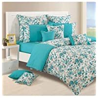 Swayam Shades Of Paradise Printed Cotton Single AC Comforter - Turquoise (ACS 11-2711)