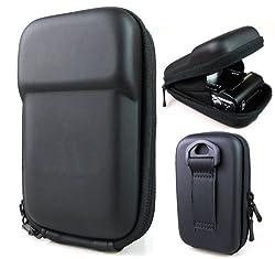 Co2Crea(TM) Black Semi-Hard EVA Digital Camera Case Bag Cover for Fuji Fujifilm Finepix F900EXR F800EXR F770EXR F660EXR XF1 F750 EXR T400 with Colorful Neck Strap with tripod mount screw