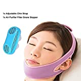PERTTY Anti Snoring Chin Strap Women Men,How to Stop Snoring,Anti Snore Chin Strap with A Silicone Air Purifier Filter Snore Stop Snoring Devices