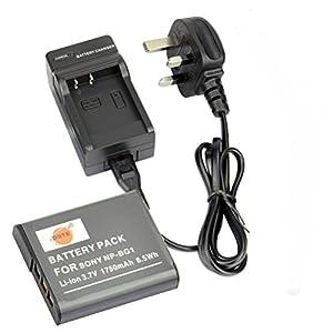 DSTE® DC02U (EU et UK Prise) Chargeur + NP-BG1 de remplacement Li-ion Batterie pour Sony NP-BG1, NP-FG1, Sony Cyber-shot DSC-H3, DSC-H7, DSC-H9, DSC-H10, DSC-H20, DSC-H50, DSC-H55