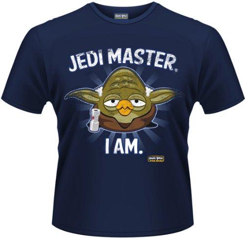 T-Shirt -(Xl) Angry Birds Star Wars - Jedi Master (T-Shirt Uomo Xxl)