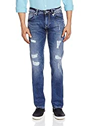 Lawman Men's Slim Fit Jeans (8907201953468_PG3 KTN-1554STR SLMFT PHTMBL_30W x 34L_Blue)