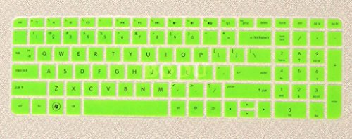 Bodu Silicone Keyboard Cover Protector Skin For Hp Pavilion New Dv6 G6 With Number Keys On Right Side(Green)