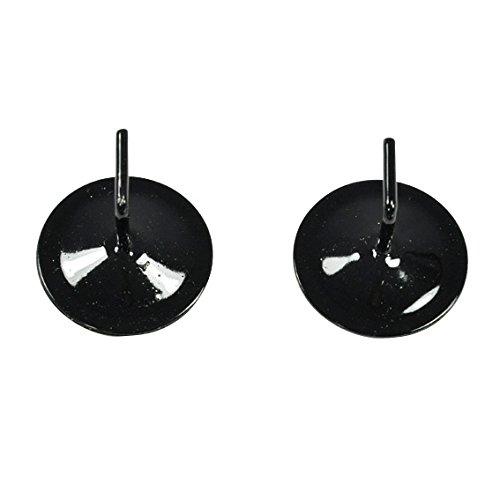 Lot de 2 supports adhésifs métal Noir laqué