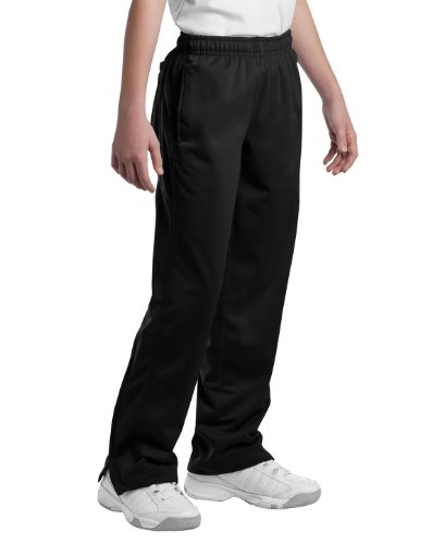 Sport-Tek Ypst91 Youth Tricot Track Pants - Black - M front-657410
