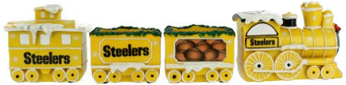 Pittsburgh Steelers NFL Football Decorative Christmas Train Set by Forever Collectibles