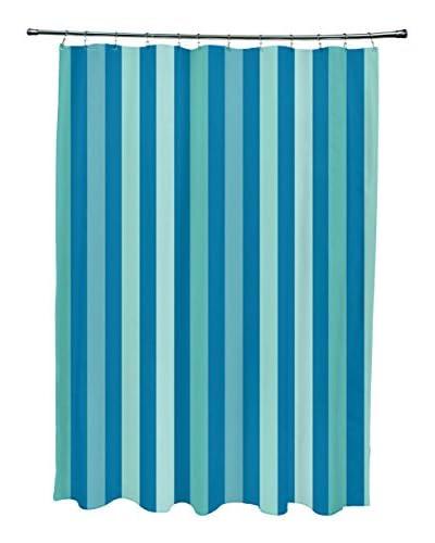 e by design Striped Shower Curtain, Aqua