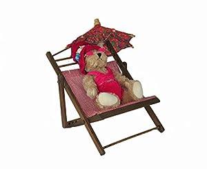 """Amazon 8"""" Pink Plush Bikini Bear in Lounge Chair with"""