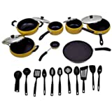 Apricoat Premium Quality 2.5mm Thickness 11 Pcs Non-stick Cookware Set With 11pc Serving Spoon Set Free
