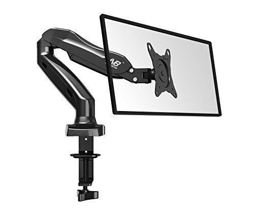 Universal Articulating Gas Spring Desk Monitor Mount for 17