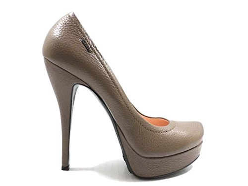 scarpe donna LORIBLU 37 decoltè marrone pelle AZ840