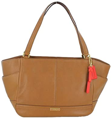 Coach Carrie Women's Tote Leather Handbag Brown