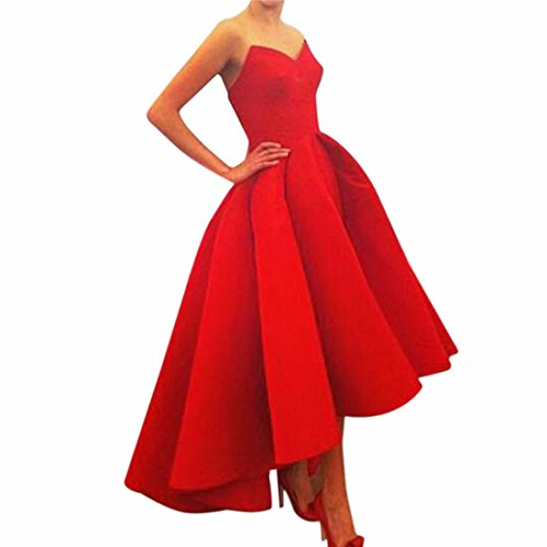 Women Prom Ball Cocktail Party Dress Formal Evening Gown Strapless Long Dress