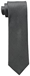 Calvin Klein Men\'s Steel Micro Solid B Tie, Black, One Size