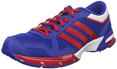 adidas Men's Marathon 10 M Running Shoe,Collegiate Royal/Red/Running White,6 D US