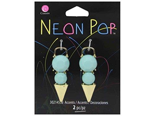 Cousin COU30214558 2 Piece Turquoise/Gold Blue Dagger Accent Neon Pop Collection