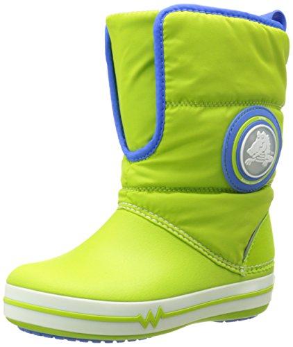 crocs CrocsLights Gust Boot PS, Stivali da neve Unisex bambini, Verde (Grün (Volt Green)), 24/25 EU
