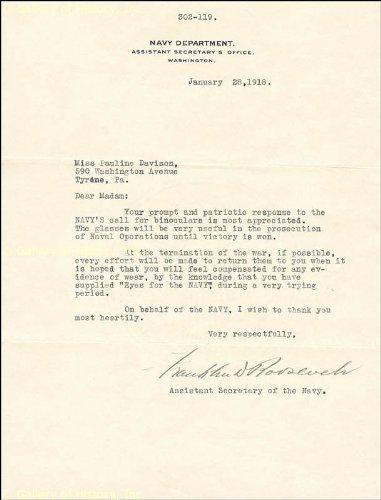 Franklin Roosevelt: World War I