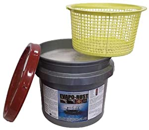 Evapo-rust 3 Gallon Pail with Dip Basket - The Original Safe Industrial Strength Rust Remover by Orison