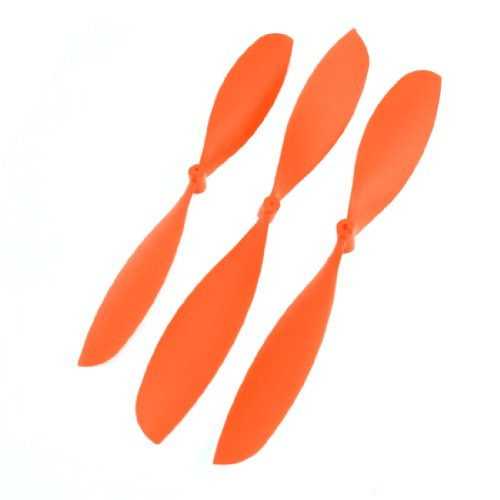 3pcs Orange Plastic 9 Inch 16mm Hub Thick RC Airplane Propellers Blade