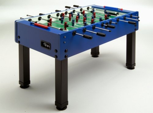 Fußballkicker MASTER-CUP, mit modernem blauen Dekor bestellen