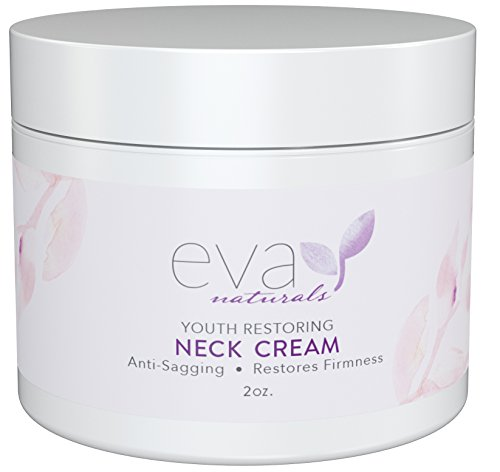 Neck Firming Cream by Eva Naturals (2 oz) - Firming Lotion for Sagging Neck, Face, and Décolleté - Fights Wrinkles and Promotes Elasticity and Youthful Skin - With Vitamin C, CoQ10 and Hyaluronic Acid (Throat Cream compare prices)