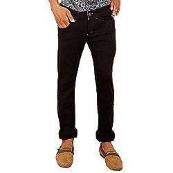 Hasasi Denim Men's Regular Fit Jeans - BL3437-Jeans-Black-30