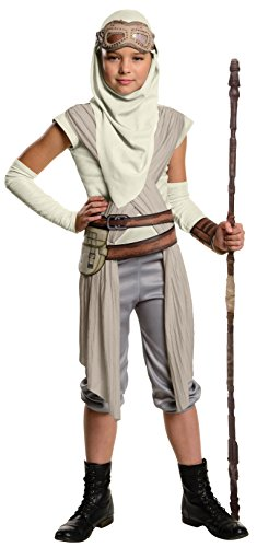 [Rubie's Costume Star Wars VII: The Force Awakens Rey Costume & Accessories Bundle, Multicolor,] (Halloween Costumes For 4 People)
