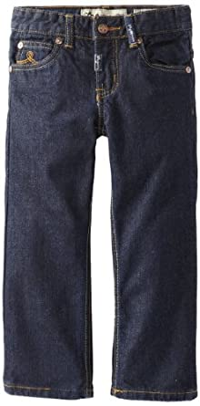 LRG - Kids Boys 2-7 Little Core Straight Fit Jean, Dark Blue Rinse, 6