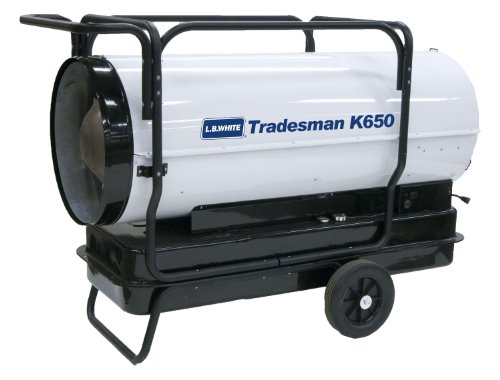 L.B. White CP650BK Tradesman K650 Portable Forced Air Kerosene Heater, 650,000 Btuh (650000 Kerosene Heater compare prices)