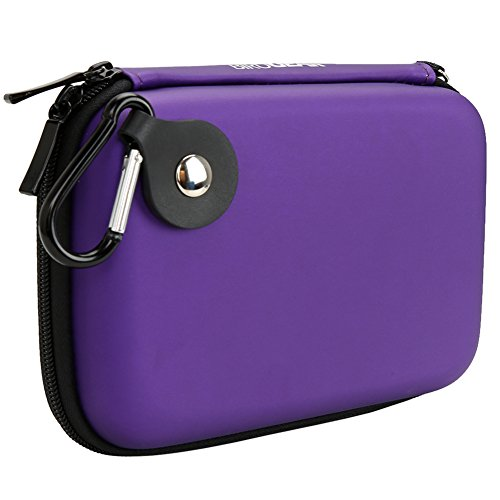 BIRUGEAR Hard Shell Carrying Case for WD My Passport Ultra, My Passport Edge, My Passport Enterprise, My Passport Essential & More Portable External Hard Drives - Purple