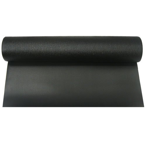Black Exercise Equipment Floor Mat 3' x 6.5' x 7 mm thick