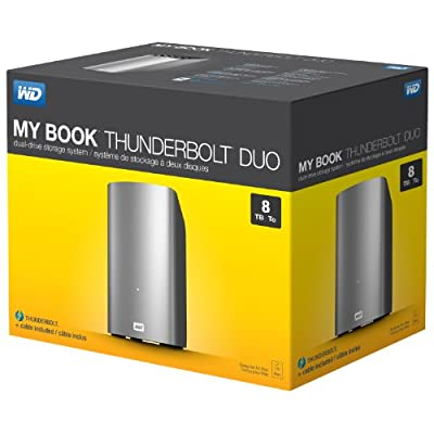 WD 8TB My Book Thunderbolt Duo Desktop RAID External Hard Drive- Thunderbolt - WDBUTV0080JSL-NESN