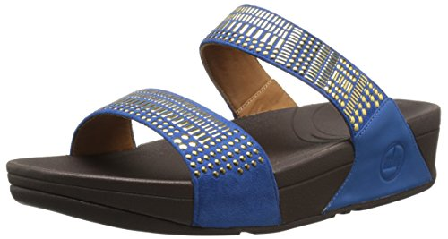 FitFlopTM Aztek Chada Slide Devon Blue 5 UK