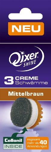 Qixer Shine Your Edition - 3er Creme Schwamm, Braun für Elektronisches Schuhpflegesystem