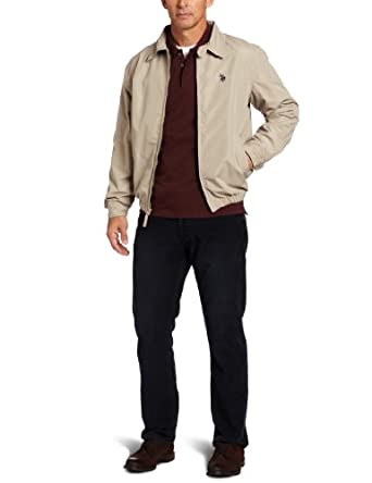 U.S. Polo Assn. Men's Golf Jacket With Small Pony, Thomas Khaki, X-Large