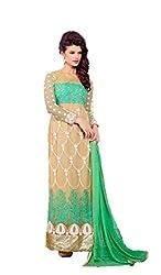 AVP Mart Women's Georgette Unstitched Dress Material (SM_9099G_Green)
