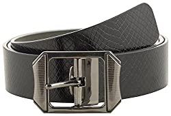 Jackblack Men's Leather Belt (SEVP025, Black, 36)