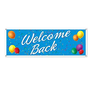 Beistle Welcome Back Sign Banner, 5-Feet by 21-Inch by The Beistle Company