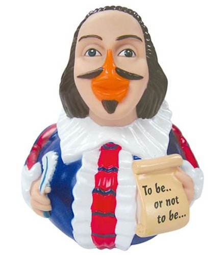 CelebriDucks William Shakespeare RUBBER DUCK Bath Toy