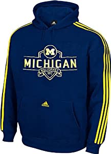 Michigan Wolverines Shield Hoody Sweatshirt by Adidas by adidas