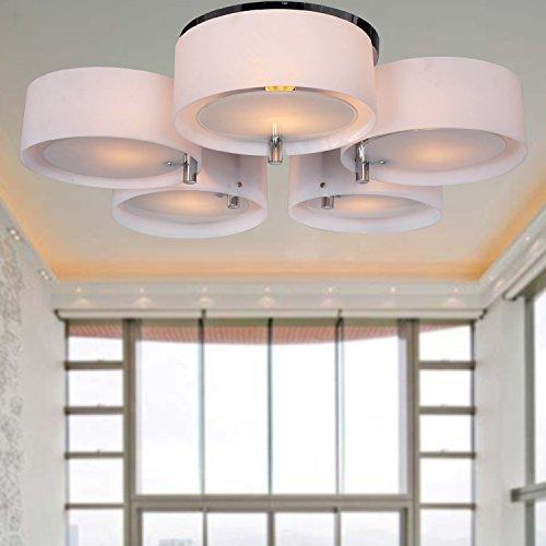 ALFRED® Lampadario in acrilico con 5 luci (finitura cromata), montaggio a filo della luce di soffitto Apparecchio per lo studio / ufficio, camera da letto, Soggiorno