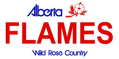 LP-2065 Alberta Canada Province Background License Plates- Flames