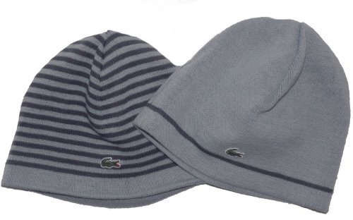 Lacoste Mens Alentour Reversible Wool Blend Beanie Hat One Size RB2530