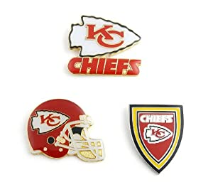 NFL Kansas City Chiefs Three Piece Collector's Pin Set, Silver