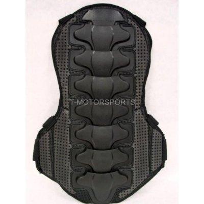 TMS  Back Protector Body Spine Molded Armor Sport Dirt Bike ATV (Armor-back) (Large)