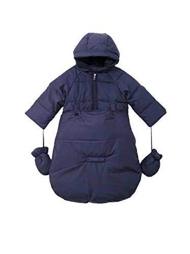 Oceankids Baby Boys Navy Blue Newborn Pram Down Bunting Snowsuit Detachable Bottom 24M 18-24 Months