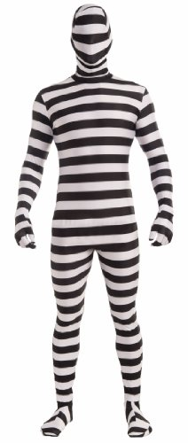 Forum Novelties Women's Disappearing Man Patterned Stretch Body Suit Costume