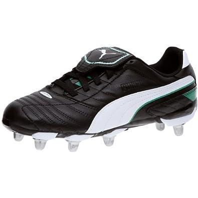 Puma Esito Finale H8, Chaussures rugby homme - Noir/Blanc/Vert, 48.5 EU