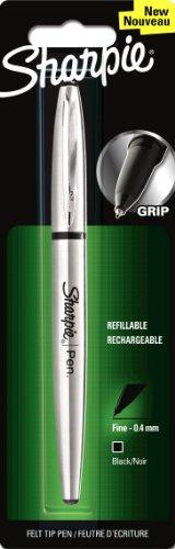 sharpie-1849740-fine-point-stainless-steel-grip-pen-black